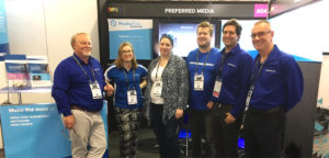 Preferred Media staff attending the stand at SMPTE 2017