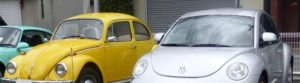 nostalgia - old and new beetle side by side