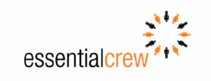 Essential crew logo icon with circle of people